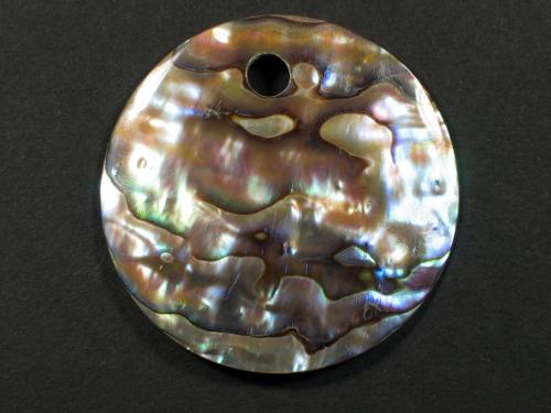 Paua-Scheibe 4cm m/0,4Bohrung