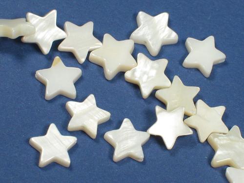 Perlmuschel-Sterne ~1cm m/Bohrung (x3)