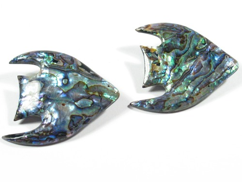 Paua-Fischbrosche ~4,5cm