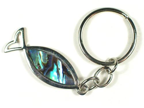 Schlüsselanhänger mit Paua-Fisch