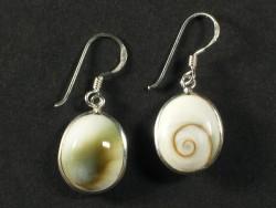 Operculum-Ohrhängerpaar oval m/Silber 1,5cm