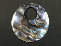 Paua-AbaloneScheibe 3,7cm m/1,3Bohrung