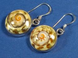 Mondschnecken-Ohrhängerpaar m/Silber Ø1,5cm