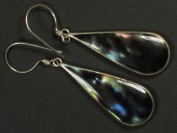 Black Rainbow-Ohrhängerpaar m/Silber 3,5cm