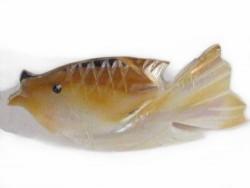 Perlmutt-Brosche Fisch#3 ID ~3,5cm