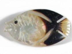 Perlmutt-Brosche Fisch#4 ID ~3cm