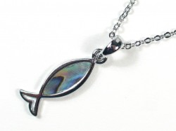 Necklace with Paua fish 2cm