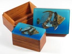 Perlmutt-Fischkisten (Zweier-Set)