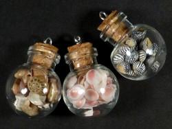 Anhänger runde Glasflasche mit Korken