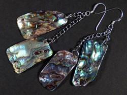 Paua earring pair