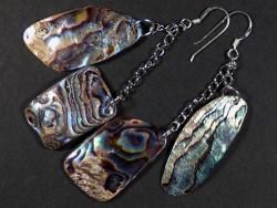 Paua-Ohrhängerpaar